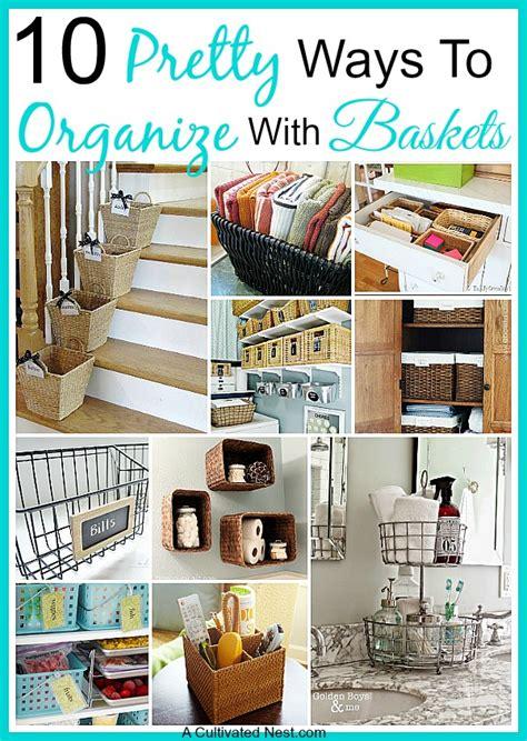 clever ways  organize  home  bins