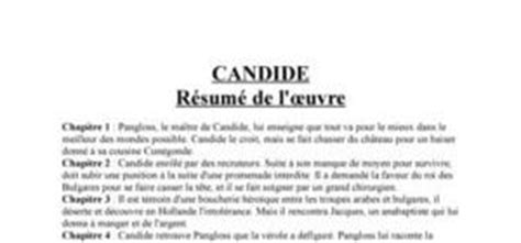 candide de voltaire digischool documents