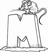 Letter Coloring Mouse Kindergarten Learn Place sketch template