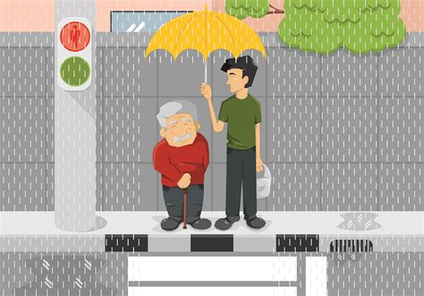 illustration  kindness concept   vector