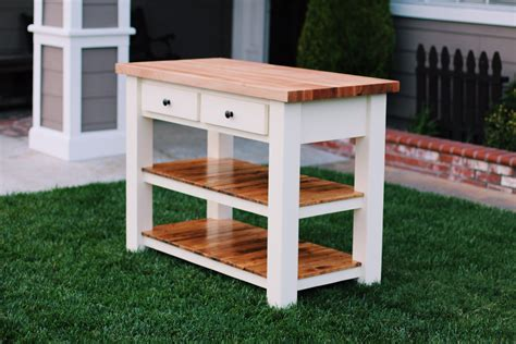 kitchen island with cutting board top white butcher block kitchen island diy projects