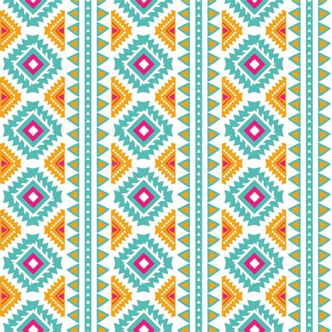Seamless tribal texture stock vector. Illustration of ...