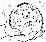 Hedgehog Coloring Pages Gerbil Cute Printable Getdrawings Getcolorings Print Colorings sketch template