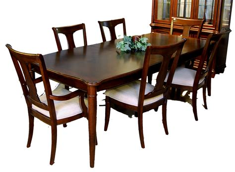 mestler rustic dining table with padded seat chairs dining