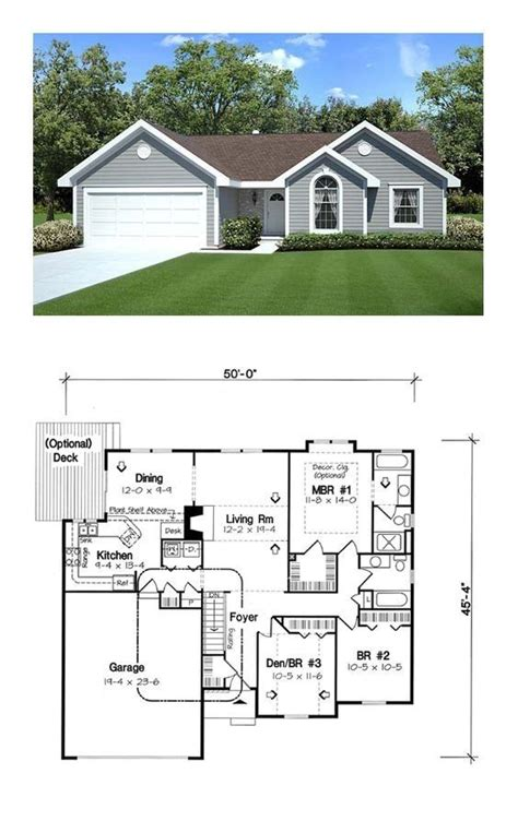 Traditional Style House Plan 20164 with 3 Bed 2 Bath 2