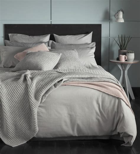 Linen Bedcovers by Tiny Stripe Graphite Grey Bed Linen Secret Linen Store