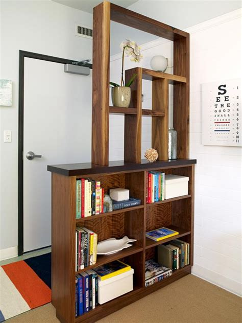 bookshelf room divider 9 creative book storage hacks for small apartments