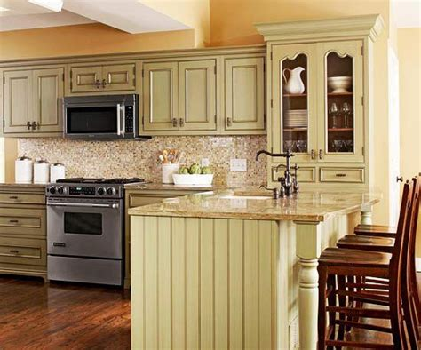 green yellow kitchen 25 best ideas about distressed kitchen cabinets on 1476