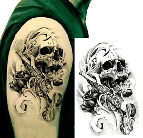 latest gangster skull tattoos