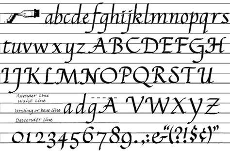 sample calligraphy styles dummies
