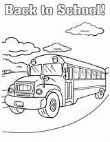 Bus Coloring Printable sketch template