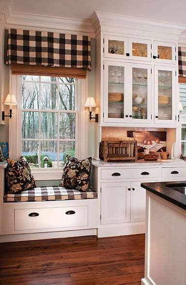 cute window seat  country kitchen pictures