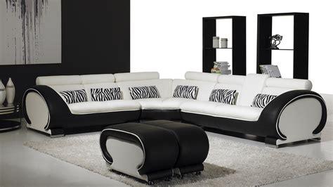vente canape cuir vente canape angle design okyo blanc noir mobiliermoss