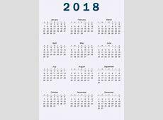 2018 Calendar with Holidays United States Latest Calendar