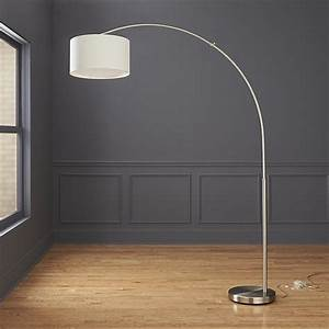 big dipper silver arc floor lamp cb2 With cb2 modern floor lamp