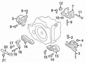 Lincoln Mkt Automatic Transmission Mount  Engine  Lower  Liter
