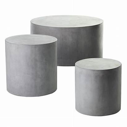 Round Holloway Table Coffee Concrete Outdoor Decor
