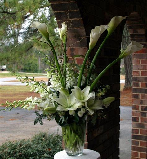 large arrangement  church calla lily wedding easter