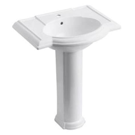 Kohler Devonshire Pedestal Sink Home Depot by Kohler Devonshire Single Pedestal Bathroom Sink Combo