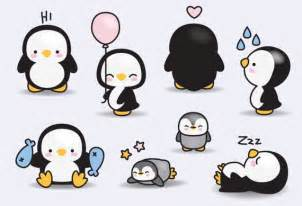 penguin baby shower premium vector clipart kawaii penguins penguins