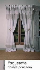 Rideau Blanc Et Doré : rideau lin blanc et beige mod le p querette le monde de rose ~ Teatrodelosmanantiales.com Idées de Décoration