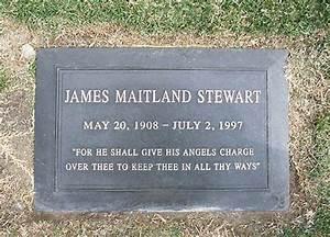 Jimmy Stewart's grave (photo)