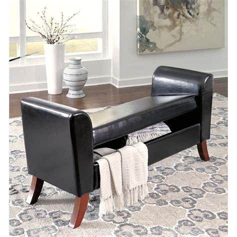 signature design  ashley benches   upholstered