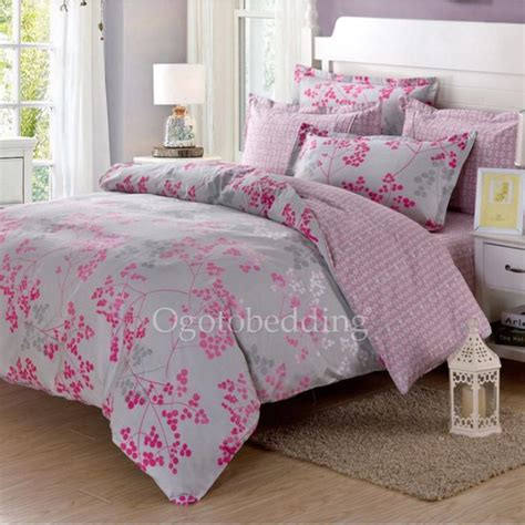 bedding sets clearance queen clearance light grey and pink pattern cotton comforter