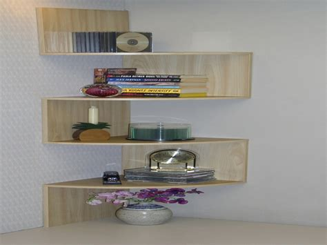 Wooden and glass corner rack, decorating color floating