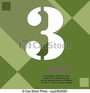 Drei Raum Wohnung : vektor von zahl drei ikone symbol wohnung modern web design csp23524081 suchen sie ~ Orissabook.com Haus und Dekorationen