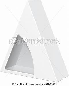 triangle packaging template - white cardboard triangle box packaging for food gift or