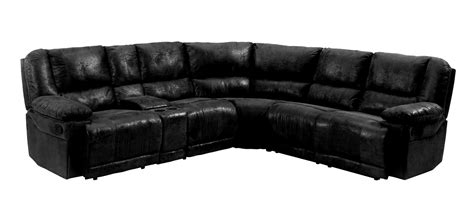 pear 1232bk black sectional recliner sofa sears outlet