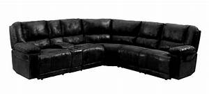 Pear 1232bk black sectional recliner sofa sears outlet for Sectional sofa sears outlet