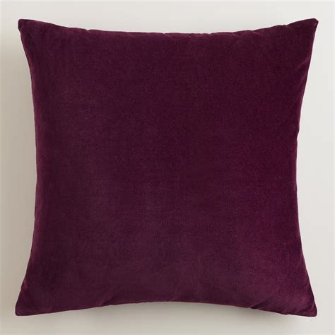 purple throw pillows potent purple velvet throw pillows world market