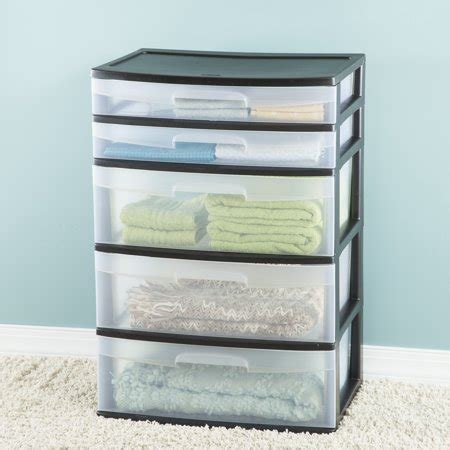 sterilite 5 drawer tower sterilite 5 drawer wide tower best drawers carts