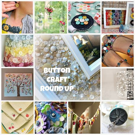craft ideas button craft round up button craft projects