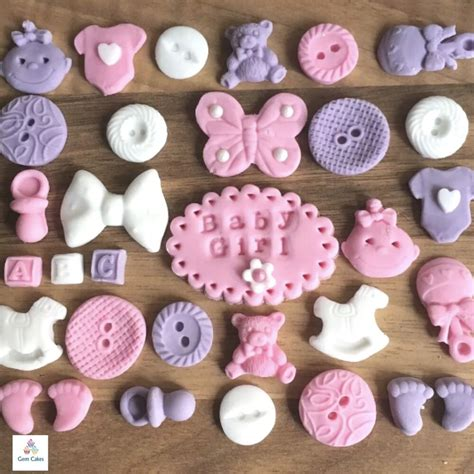 edible baby shower cake decorations 32 edible pink lilac baby christening shower cup cake