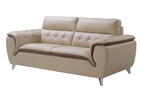 Khaki Reclining Sofa by U7390 Sofa 3pc Set In Khaki Bonded Leather By Global