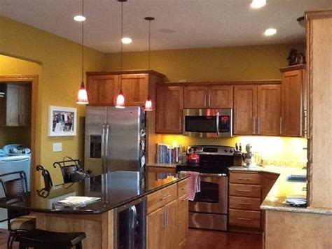 Gold wall color in kitchen  too much?