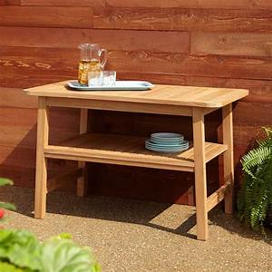 Brantley Curved Teak Outdoor Grill Table