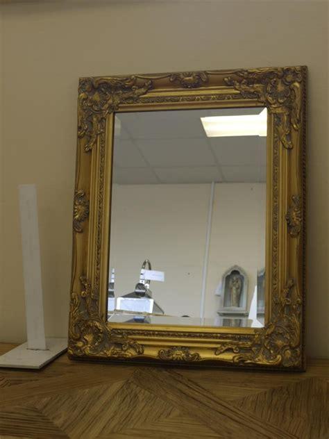 gold framed mirror rectangular somerset