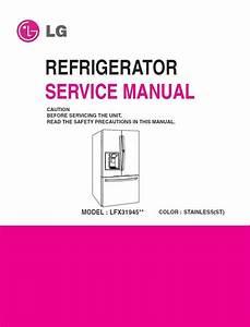 Lg Lfx31945 Lfx31945st Refrigerator Service Manual   P