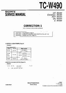 Sony Tc-w490 Service Manual