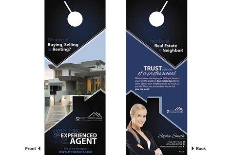 door real estate real estate door hanger template realtor estate door