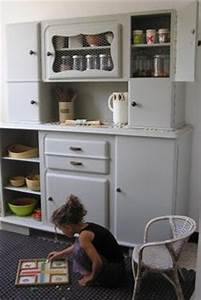 diy relooking de mon buffet vintage des annees 50 With kitchen cabinets lowes with papier peint bibliotheque
