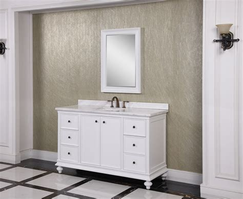 60 Inch Bathroom Vanity Single Sink White by 60 Inch Single Sink Bathroom Vanity In White Uvlfwb197166060
