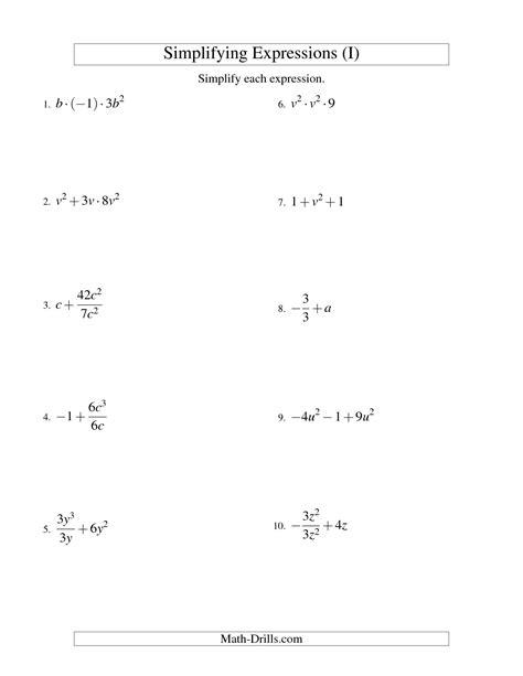 17 Best Images Of Simplifying Algebra Worksheets  Simplifying Radicals Worksheet, Simplifying