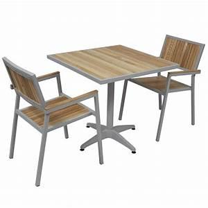 Chaise Jardin Bois : table de terrasse pas cher table jardin resine pas cher reference maison ~ Teatrodelosmanantiales.com Idées de Décoration
