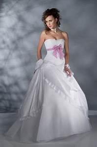 robe de mariee blanche et rose With robe de mariée rose et blanche