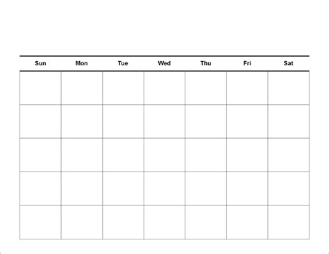 free printable blank calendar template pdf word calendar template letter format printable